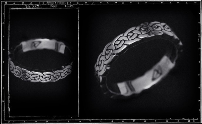 NARROW CELTIC BAND RING