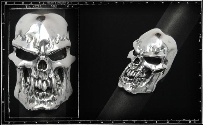 Psycho S.O.B skull ring