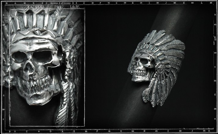 Ghost chief skull ring