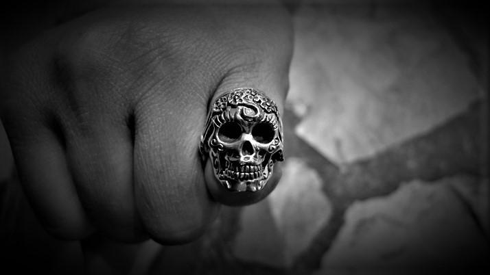 Mexican La Muerta Skull Ring