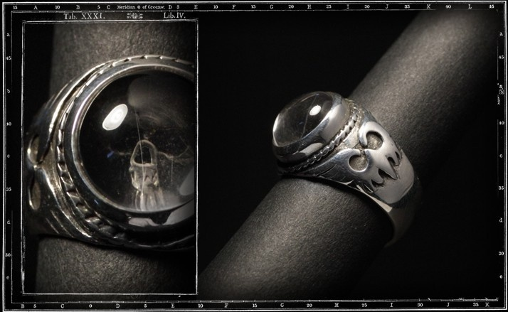 crystal skull ring (Small)