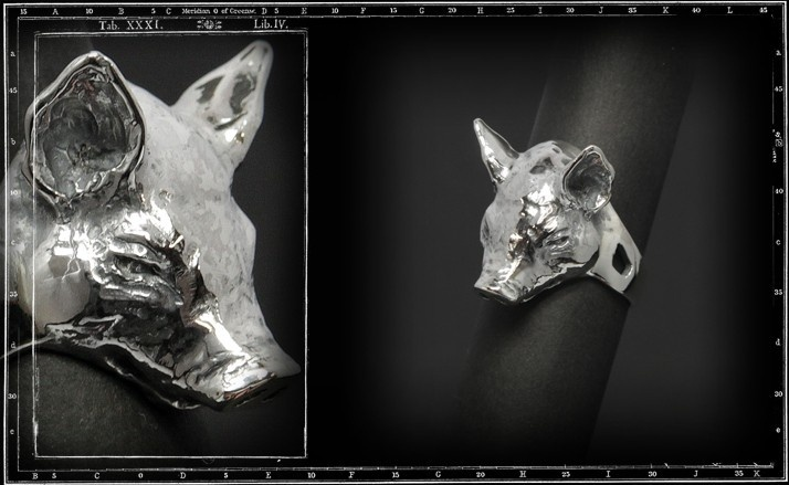 Pig head ring (small)