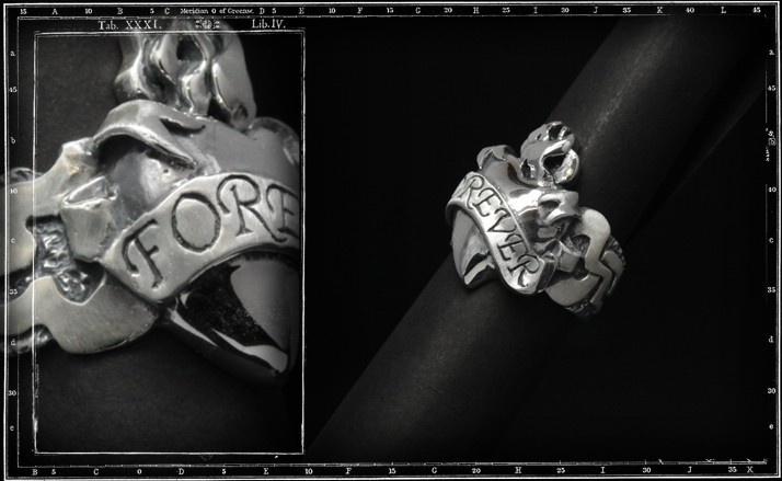 Forever sacred heart ring