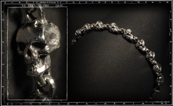 Rosary skull bracelet