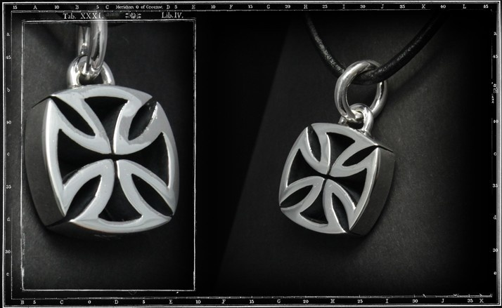 3d maltese cross pendant