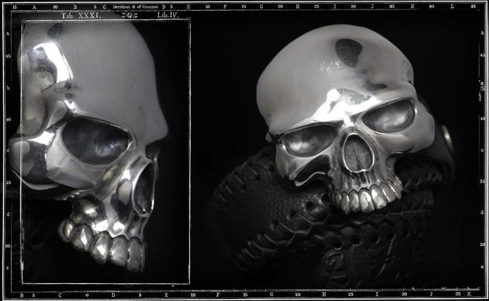 Evil skull buckle & belt