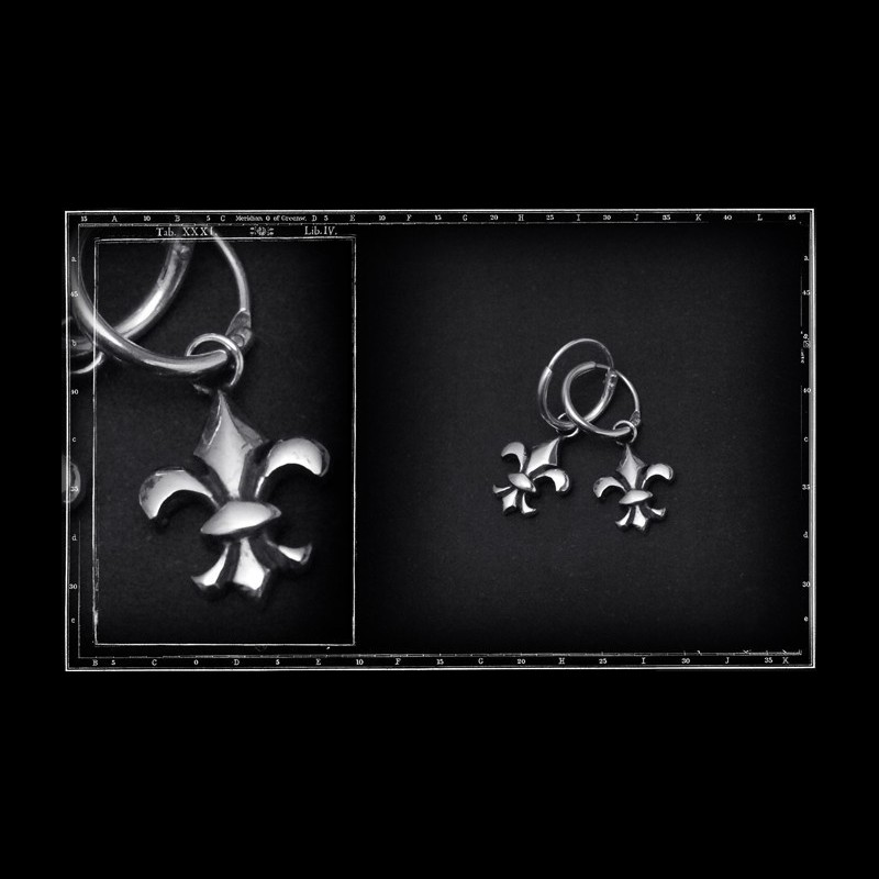 Fleur de lys hoop earrings