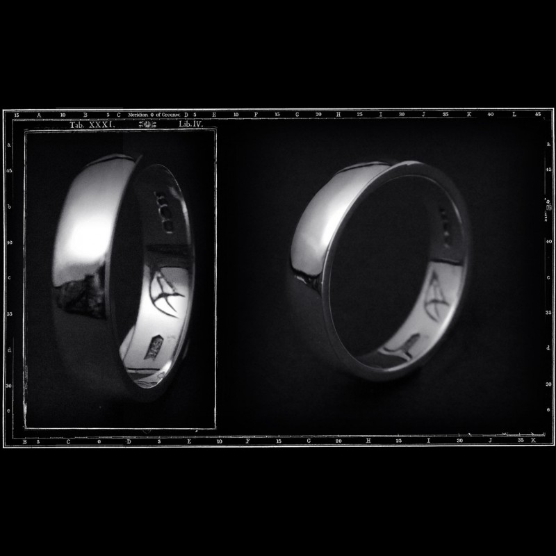 LIGHT PLAIN BAND RING (6mm x 2mm)