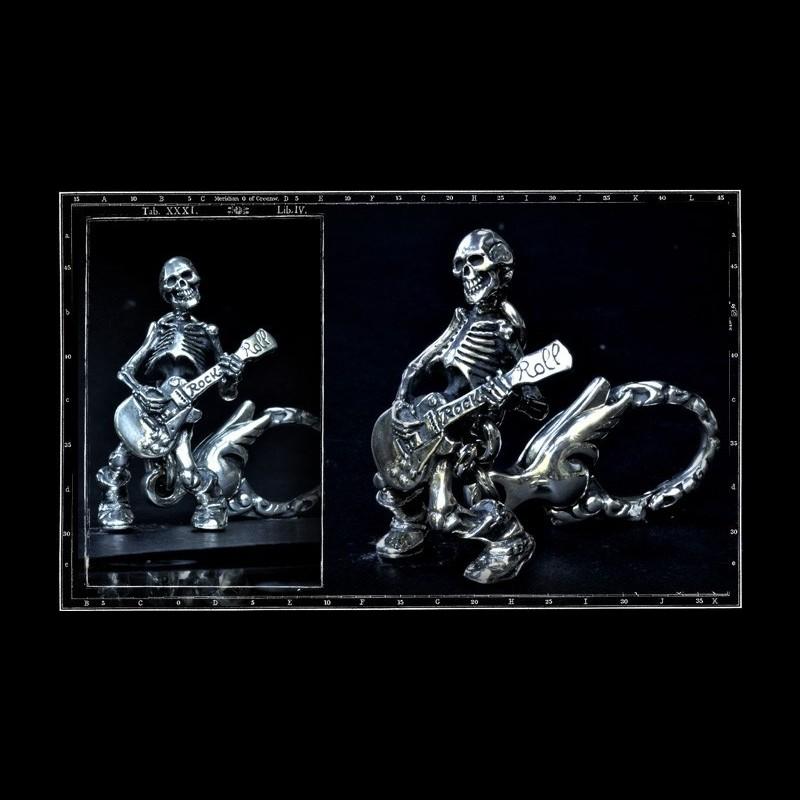 Till Death / Guitar Skeleton Key Ring