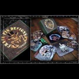Crazy Pig Designs Coasters (Bright Set)