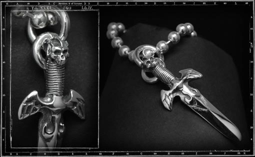 Dagger pendant & ballchain