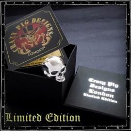 Anniversary evil skull ring