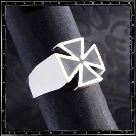 Small Enamel Maltese Cross Ring