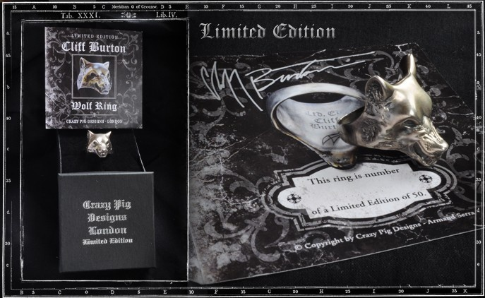Limited Edition Cliff Burton Wolf Ring