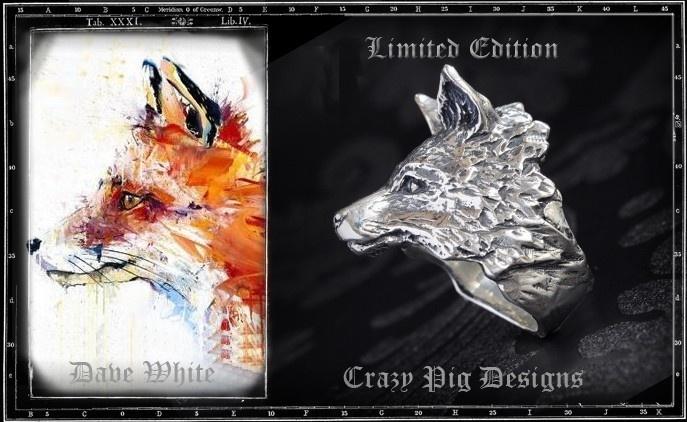 Crazy Pig Designs x Dave White Fox Ring