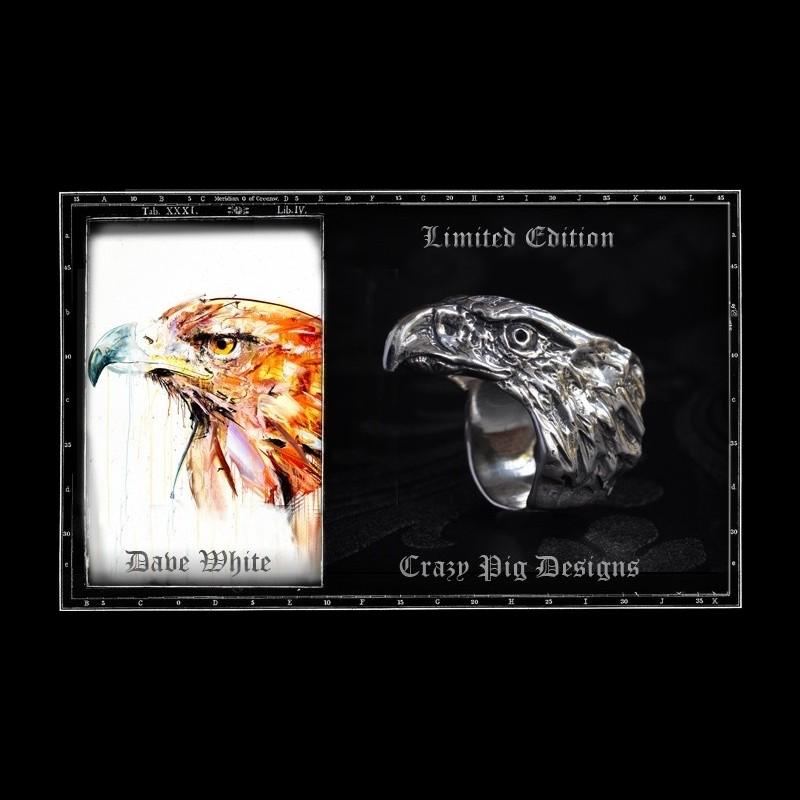 Crazy Pig Designs x Dave White Eagle Ring