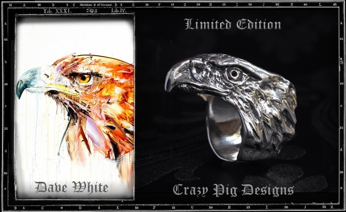 Crazy Pig Designs x Dave White Eagle Ring