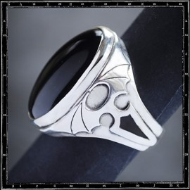 Bat Wings stone ring