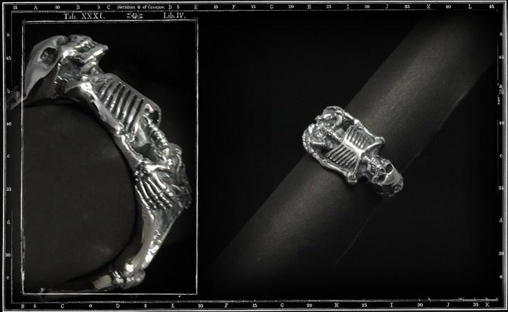 Sid Skeleton skull ring