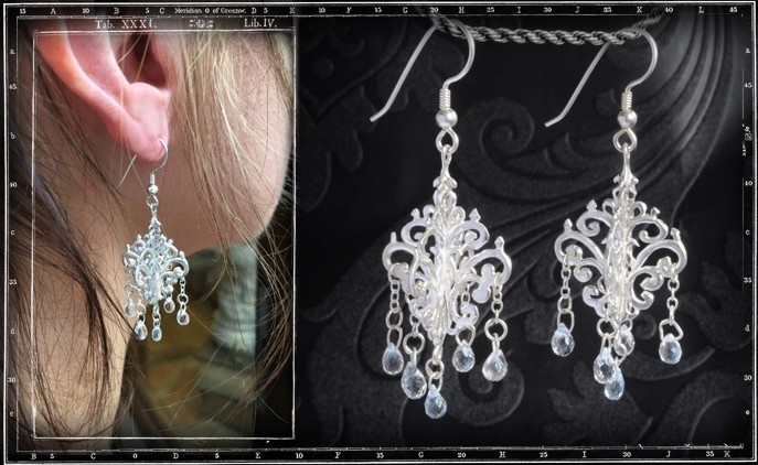 Chandelier earring with Crystal stones (pair)