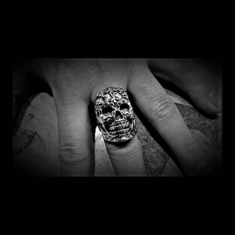 Mexican El Muerto Skull Ring