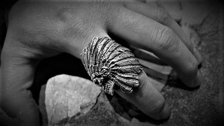 Ghost chief skull ring
