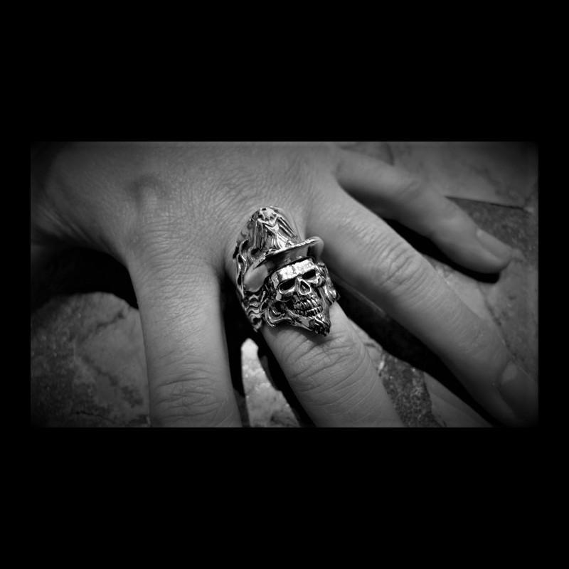 Medicine Man Skull Ring