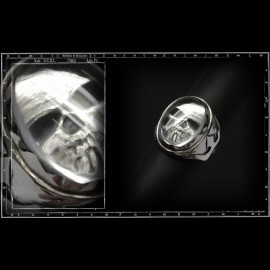 Crystal skull ring (large)