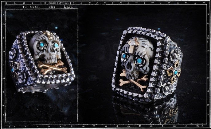 Collectors Series - Mejico Mexican Skull Ring