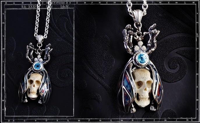 Collectors Series - Metamorphosis Bug & Skull pendant