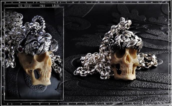 Collectors Series - Sherwood Skull & Leaves Pendant