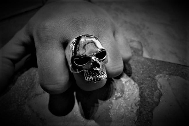 XL Evil Skull Ring