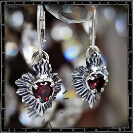 Milagro Mexican Sacred Heart Earring