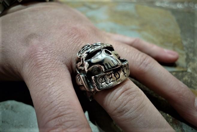 Skrull skull ring