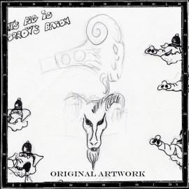 Ancient goat ring original artwork