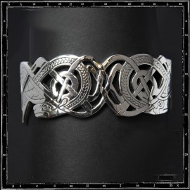 Large celtic dogs bracelet