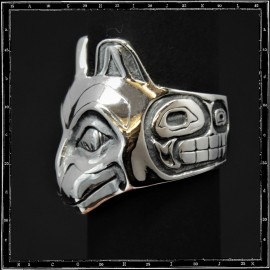 Totem face ring 3  (cat)