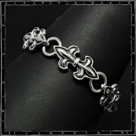 Double fleur de lys bracelet