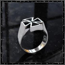 Small Enamel Maltese Cross Ring