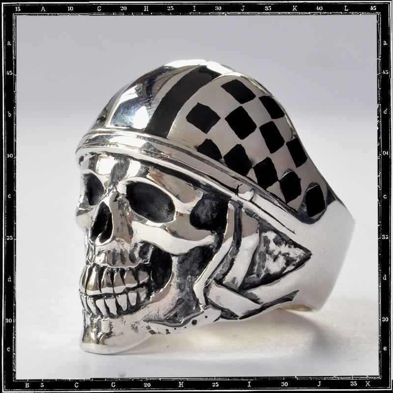 Silverstone Skull Ring