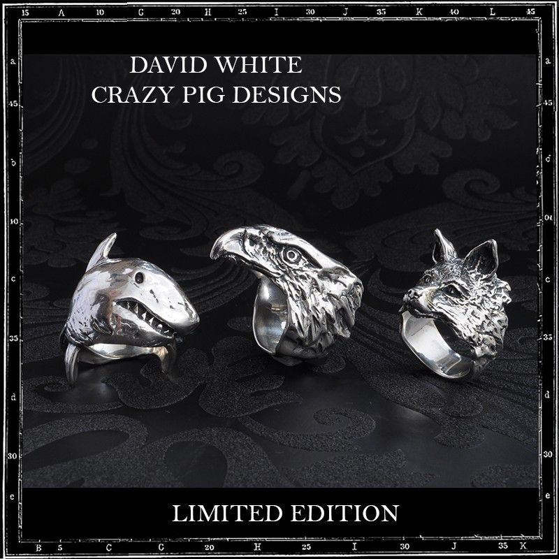 Crazy Pig Designs x Dave White Shark Ring