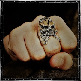 Crazy Pig Designs x Ramblin Man Fair Skull RingSutton Hoo Helmet Ring