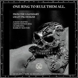 Crazy Pig Designs x Ramblin Man Fair Skull Ring