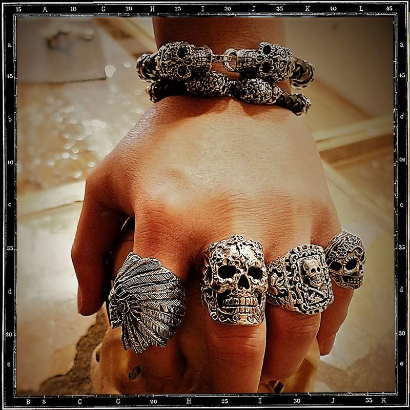 El Muerto Mexican skull ring