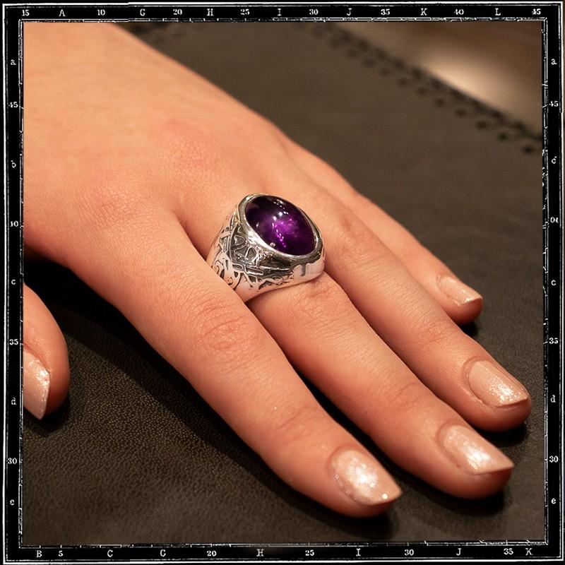 Celtic Dog stone ring