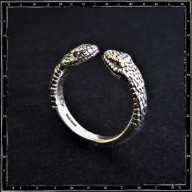 Two headed snake ring