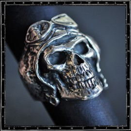 DEATH FROM ABOVE SKULL RING