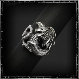 Small flat dragon ring