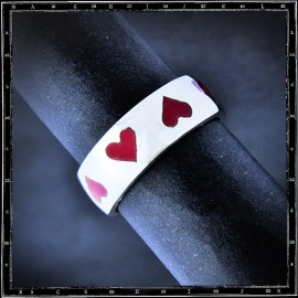 Enamel Heart Ring (Small)
