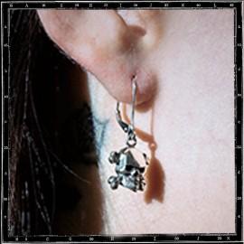 Skull & Crossbone Drop Earring